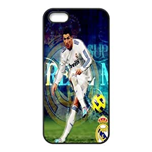 Soccer Real Madrid Football Club Classic Design Print Black Case With Hard Shell Cover for Apple iPhone 5/5S