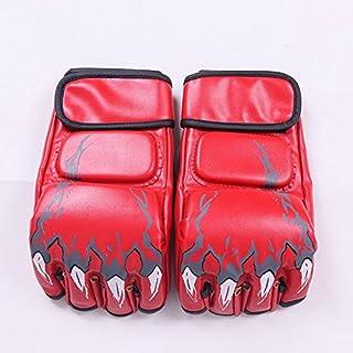 Wuudi Professional Gants de Boxe Muay Thai Sac de Frappe Demi Mitaines Sparring Gym Pro Style Amateur Style Gym Gants de Boxe d'entraînement