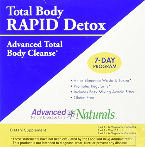Advanced Naturals Total Body Rapid Detox 3-Part (4 Total Cleanse Part)