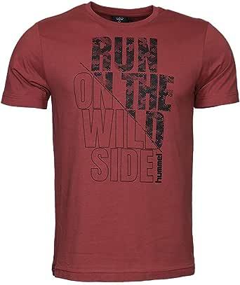 hummel T-Shirts for Men, Color Burgundy - Size L