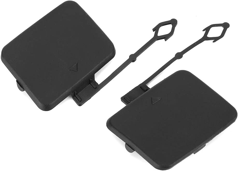 Yctze Pair of Tow Hook Cover,Rear Bumper Tow Hook Cover Tow Hook Cap Fit for X5 E70 2006-2013,51 12 7 158 448