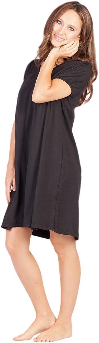 Savi Mom Nursing Nightgown USA Made Breastfeeding Pumping mom's fav! Lounge Dress Delivery Gown