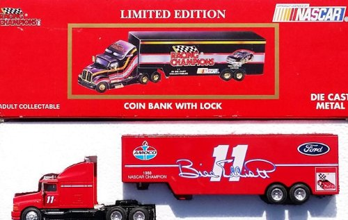 Bill Elliot #11 AMOCO Nascar Transport Diecast Truck Bank in 1:64 Scale by Racing Champions 1993