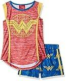 DC Comics Big Girls' Wonder Woman Glitter Crest Pajama Short Set