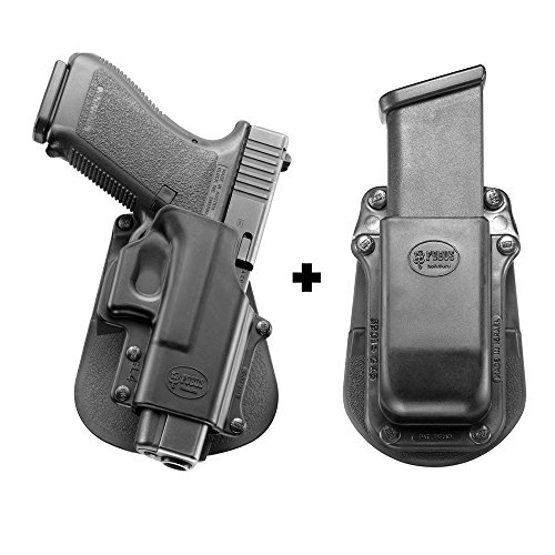 Fobus GL-4 Paddle Conceal Concealed Carry Holster Glock 21SF, 29, 30, 30SF, 39 + 3901-G45 Single Magazine Pouch