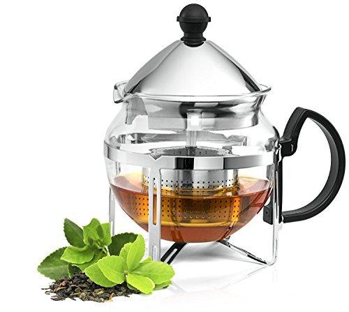 Culinaire Functional Infuser Tea Maker - Premium Stainless Steel Tea Infuser - Heat Resistant Glass