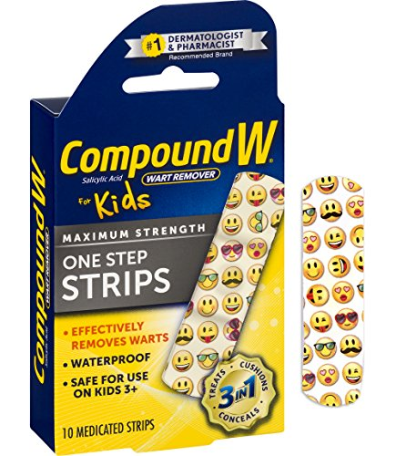 Compound W One Step Medicated Strips For Kids | Wart Removal | 10 Strips