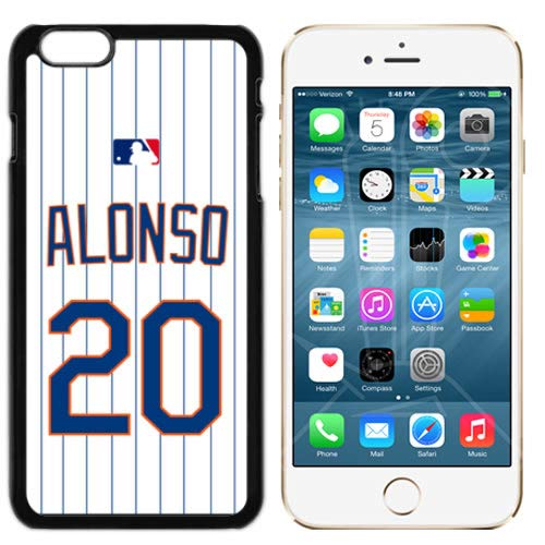 iPhone 6 New Case Mets NY Home Jersey Baseball Fashion Grip Anti-Slip Protective Shock Resistant Durable PC TPU by Mr Case (Alonso, iPhone 6, 6S)