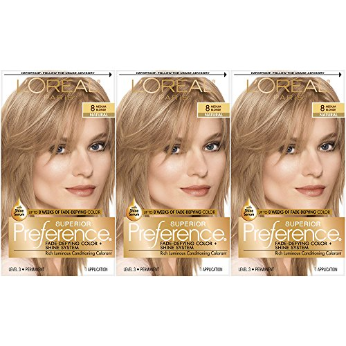 L'Oréal Paris Superior Preference Permanent Hair Color, 8 M