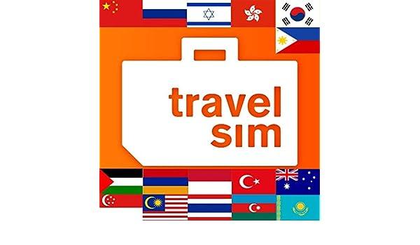 Tarjeta SIM de prepago para Asia (Australia, Armenia ...