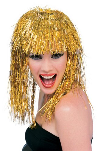Rubie's Tinsel Wig, Gold, One -