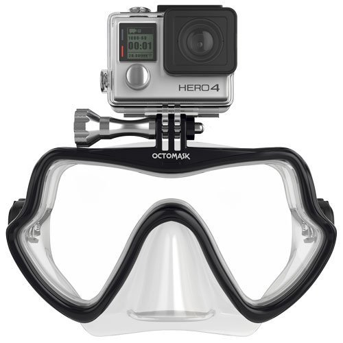 - OCTOMASK GoPro Hero4 and Hero3+ Frameless Dive Mask for Scuba and Snorkeling - Clear