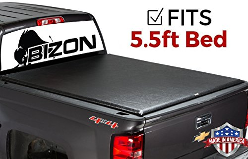 BIZON Roll Up (fits) 2005-2014 Ford F150 5.5 Foot Bed Only Soft Roll Up Truck Bed Tonneau Cover Made in The USA
