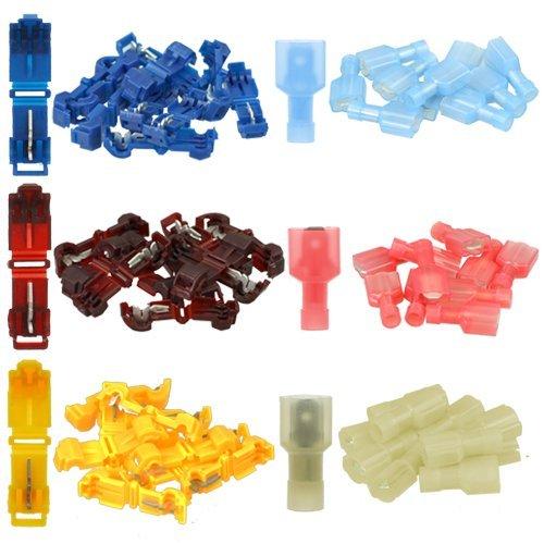 K24 - Abzweigverbinder Set: 30T Branch conectores + 30enchufe plano (cada 10x azul 10x rojo, 10x amarillo) 120-999-0049