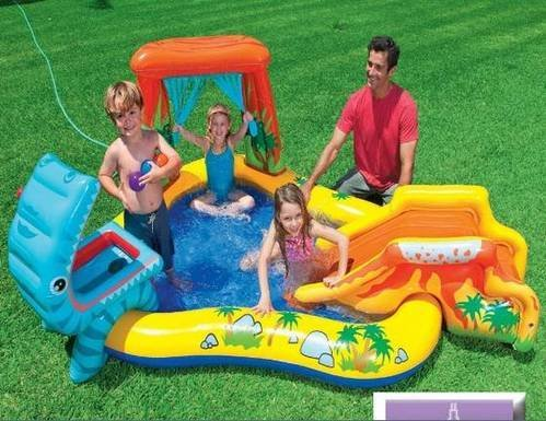 Intex Kids Dinosaur Spray Water with swimming pool Kiddie Pools at amazon