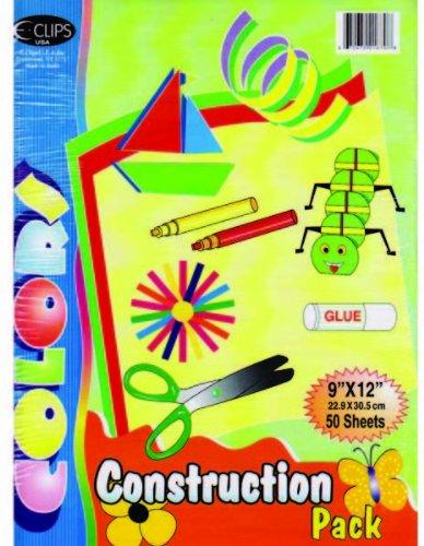 Construction Assorted Colors - 50 sheets/ pack-9'' x 12'' 48 pcs sku# 1281351MA