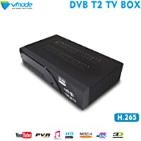 DVB-T/T2 Receiver, Full HD 1080P Terrestrial TV Set Top Box, USB 2.0 Freeview TV Tuner Recorder,HD Terrestrial Tuner Analog to Digital Television Converter with HDMI or SCART Input