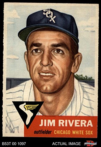Sox Chicago 1953 White - 1953 Topps # 156 Jim Rivera Chicago White Sox (Baseball Card) Dean's Cards 5 - EX White Sox