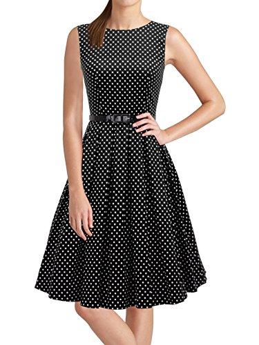 50s style boat neck dress - 4