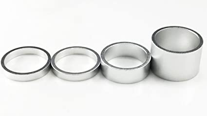 "Vuelta Headset spacer 1-1//8/"" x 5mm silver 10//bag"