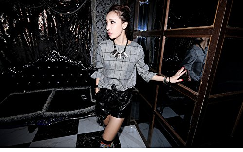 Generic Street beat the influx of goods to Europe and America retro short paragraph clavicle chain necklace chain sweater woman leaves simple fashion tide