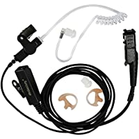 abcGoodefg 2-wire Two-way Radio Surveillance Earpiece Kit for Motorola with one pair Earmold Earbud Xpr3300 Xpr3500 XIR P6620 XIR P6600 E8600 E8608 Mototrbo
