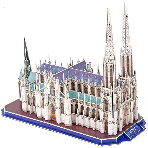 CubicFun MC103h US St. Patrick's Cathedral (New York) World's Great Architectures 3D Puzzle, 117 - St Cathedral Patrick