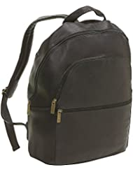 Le Donne Leather Computer Back Pack (Cafe)
