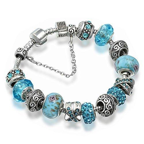 A-TE-Bracelet-Charms-Femmes-Cristal-Verre-Bleu-Charms-Mtal-Cadeau-JW-B94