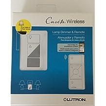 Lutron P-PKG1P-WH-R 120V White Smart Lighting Lamp Dimmer and Remote Kit