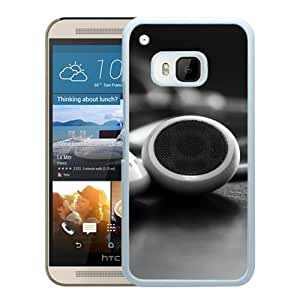 Beautiful Designed Cover Case With Headphones Wires White Membranes Table (2) For HTC ONE M9 Phone Case