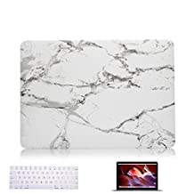 Vasileios 3in1 Rubberized Frosted Soft-touch Hard Shell Case Cover for MacBook Pro 13-inch,2016 (A1706 and 1708 ) (Marble 02)