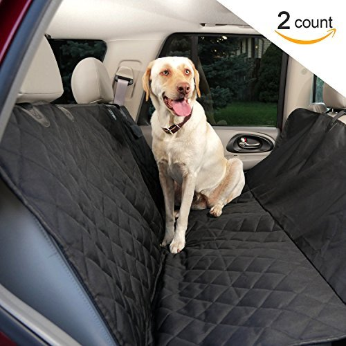 Premium Dog Seat Covers for Cars (2 Pack) - Waterproof Hammock Style Pet Seat Covers. Quilted 600d...
