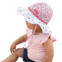 Girls Large Reversible Bucket Hat UPF 50+ Sun Protection