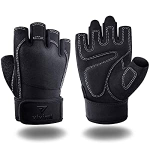 VIVIMI Weight Lifting Gloves Workout Gloves Men and Women, Gym Gloves with Wrist Support for Lifting Training Fitness Exercise, Full Palm Protection & Wrist Protection