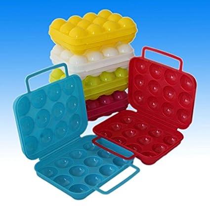 6/12 Huevos Huevera Huevos Caja Caja Caja de transporte Huevos Depósito lata caja,