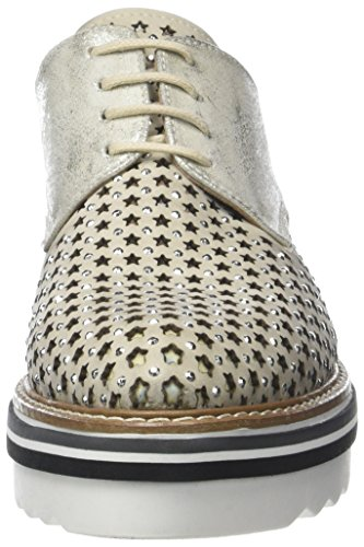 Mujer Cordones para Osso 003 Zapatos Donna PIU Ruby Ghiaccio Derby de Argent 7wqAHwx