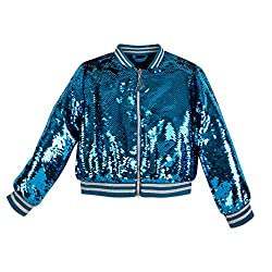 Girls Cinderella Reversible Sequin Bomber Jacket