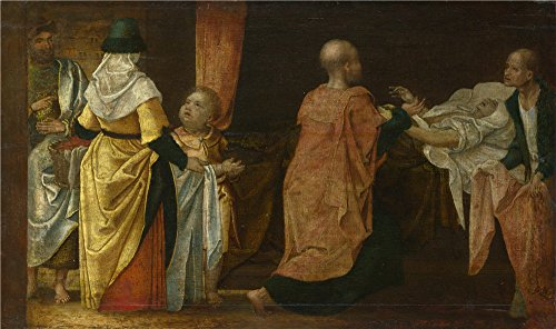 Oil Painting 'Netherlandish-Acts Of Charity,16th Century', 30 x 51 inch / 76 x 129 cm , on High Definition HD canvas prints is for Gifts And Dining Room, Garage And Gym Decoration, sale