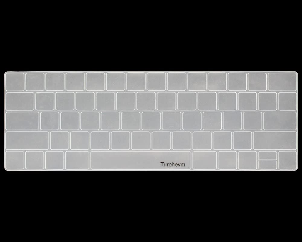 Ultra Thin Silicone Keyboard Protector Skin for Macbook Pro with Touch Bar 13 A1706 and Macbook Pro 15 A1707 Keyboard Cover Turphevm 2016//2017 Version Clear