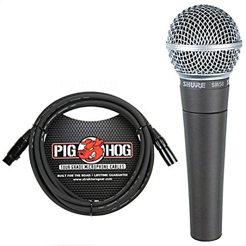 Shure SM58LC SM-58 Dynamic Vocal microphone with Free ()