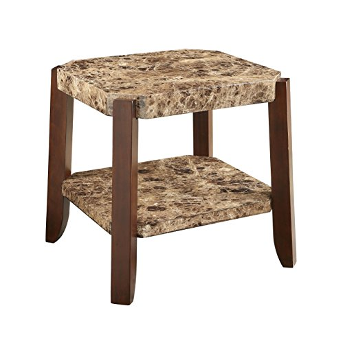 Acme Furniture 82126 Dacia End Table, Faux Marble & - Tables Marble Antique