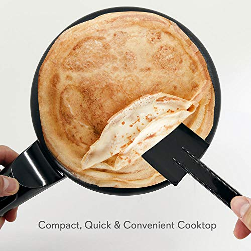 NutriChef Electric Griddle Crepe Maker - Pan Style Hot Plate Cooktop with ON/OFF Switch, Nonstick Coating, Automatic Temperature Control & Plug-in Operation for Kitchen & Countertop - PKCRM08 by NutriChef (Image #1)
