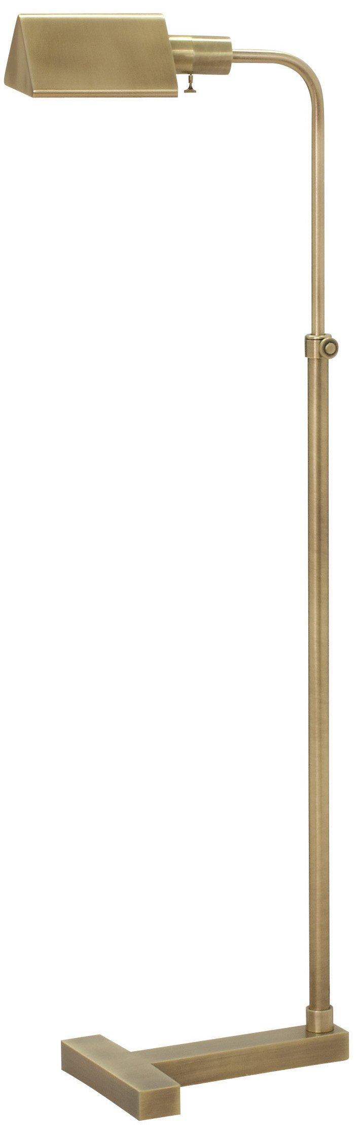 House of Troy F100-AB Fairfax Pharmacy Adjustable Floor Lamp, Antique Brass