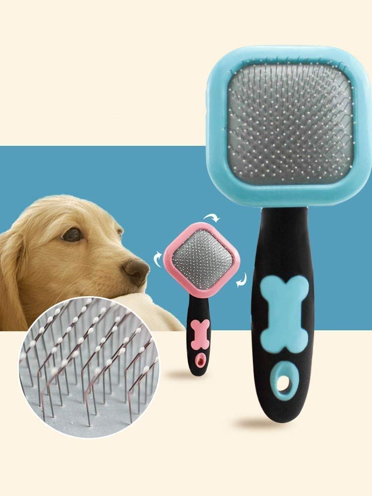 Ldlms Pet Supplies Dog, cat, Comb, Brush, Puppy, Small Dog Hair Removal Comb (Color : Pink)