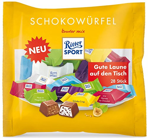 Ritter Sport Chocolate Cube Colorful mix (222g) Bag