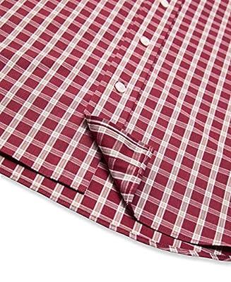 Arrow 1851 Men's Hamilton Poplins Short Sleeve Button Down Plaid Shirt