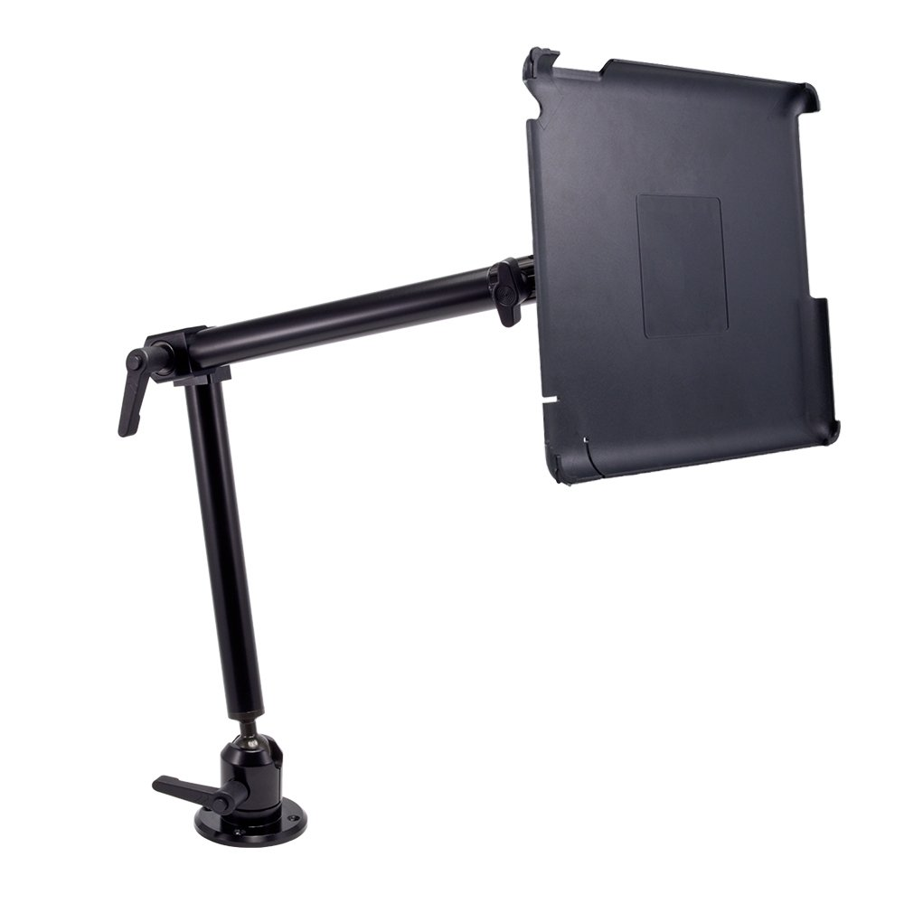 Custom Fit Apple iPad 4 3 2 Heavy Duty Drill Base Mount with 22 inch Mounting Arm