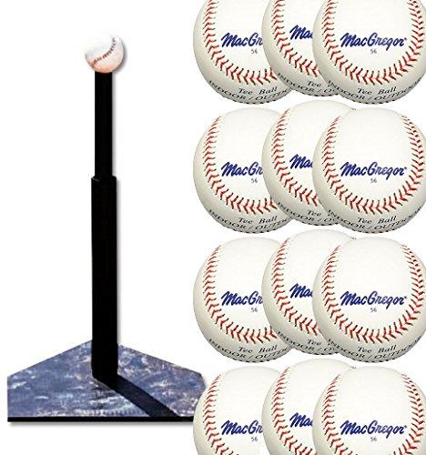 - Bundle Includes 2 Items - MacGregor Batting Tee and MacGregor #56 Official Tee Balls (One Dozen)