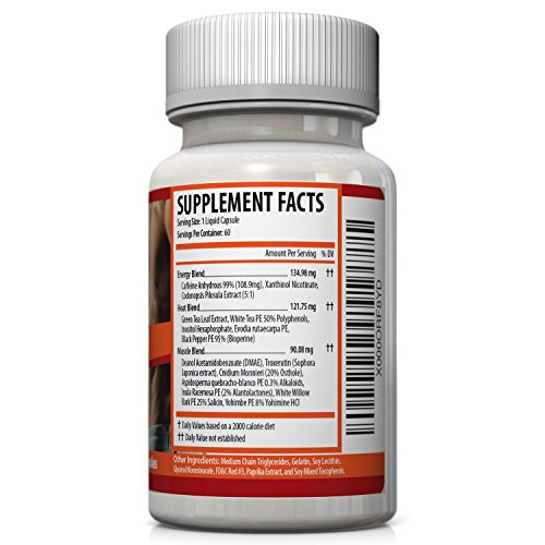 Sorvita Thermogenic Fat Burner - Powerful Fast Acting Liquid Capsules for Weight Loss, Energy and Metabolism